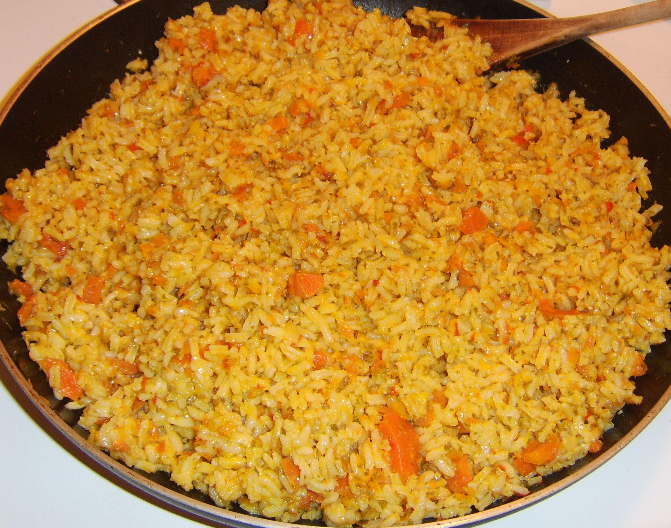Spanish Rice With Crispy Pimenton Chickpeas Recipes — Dishmaps