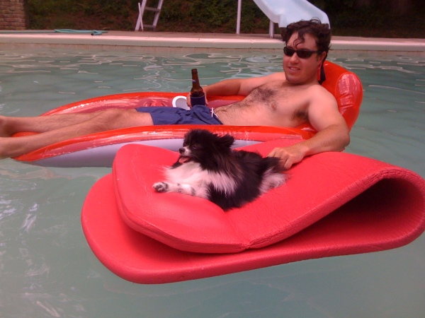 "Submitted by Jamie:  ""Lex and my husband the summer before she left us."""