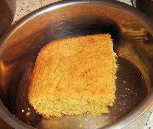 corn bread in bowl