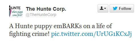 hunte corp tweet