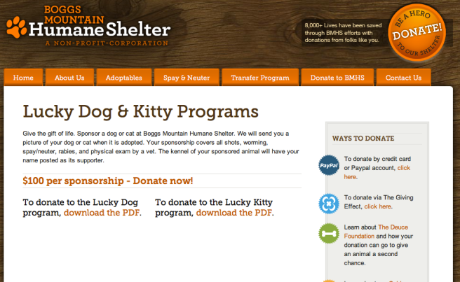 Screengrab of Kilby's scam programs at the Boggs Mountain shelter [via Metro]