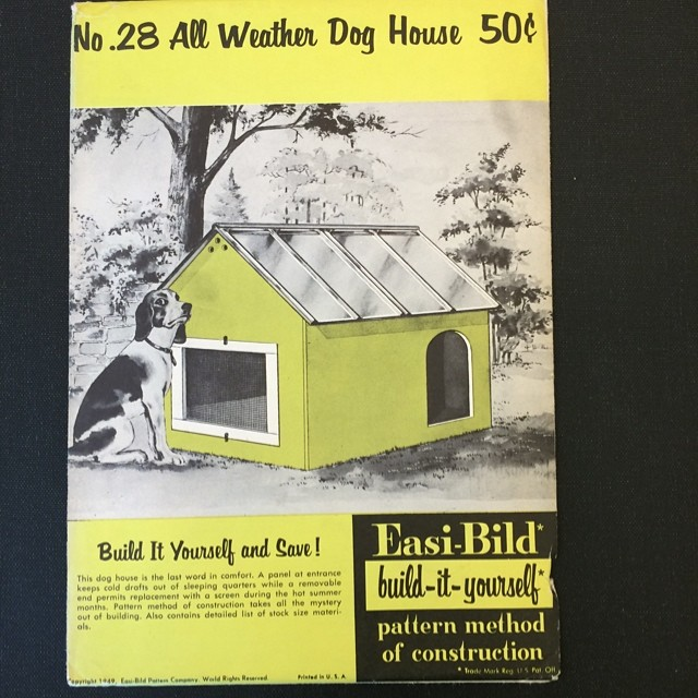 DIY dog house, skeptical dog not included [x]