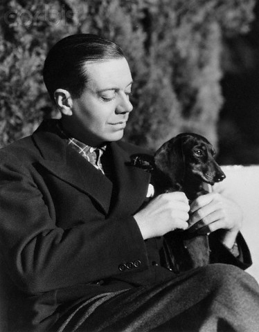 Cole Porter and dachshund, 1926