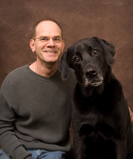 Douglas Rae, director of the Humane Society of Fremont Co, with friend. (Photo courtesy Douglas Rae)