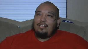 Abe Thomas, animal advocate and rescuer, as depicted in a screengrab from the KTEN website.