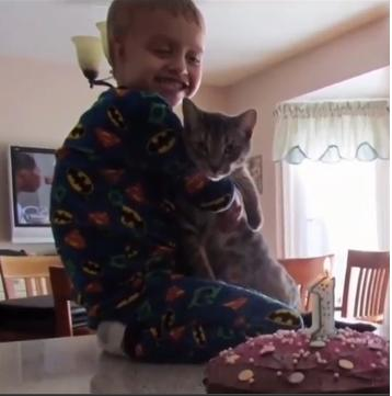 Tails having a birthday with his boy, as shown on the News4Jax website.
