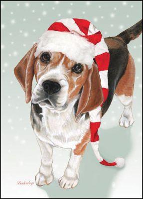 beagle xmas card